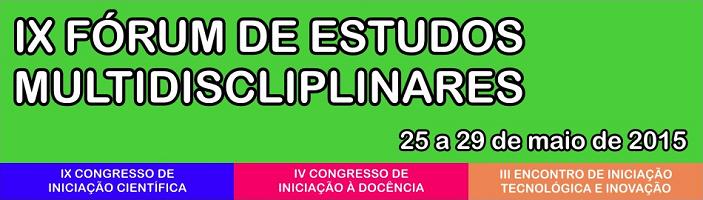 IX Fórum de Estudos Multidisplinares