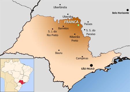 Localização de Franca