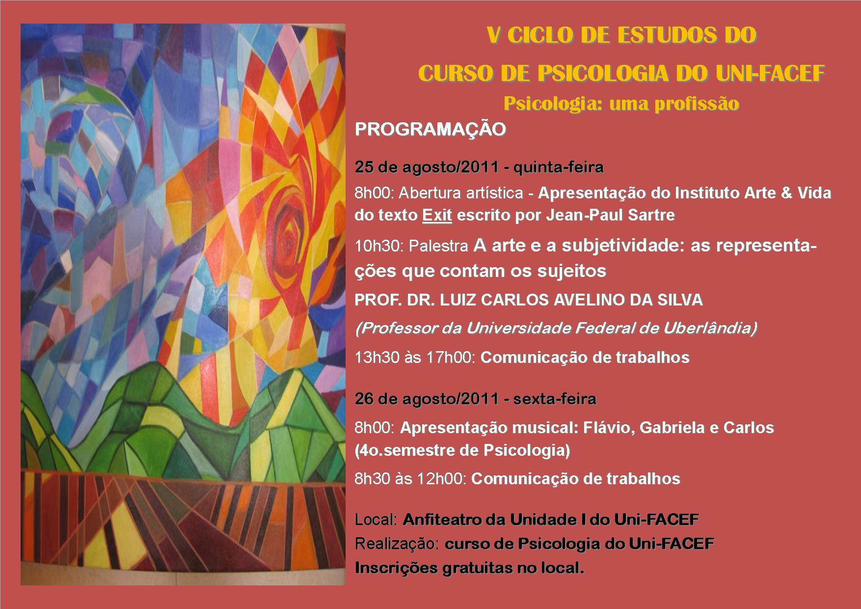 V Ciclo de Estudos do Curso de Psicologia do Uni-FACEF