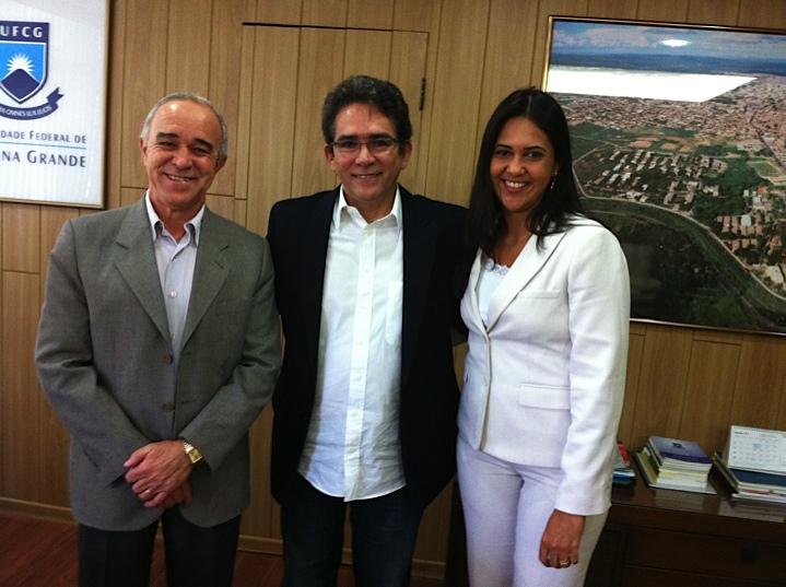 Prof. Alfredo, Prof.Dr. Thompson F. Mariz, e Profa. Dra. Lucilene Bandeira
