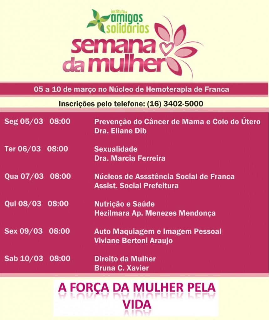 Lançamento: Campanha de Doação de Sangue e Semana da Mulher, com a presença de Luiza Helena