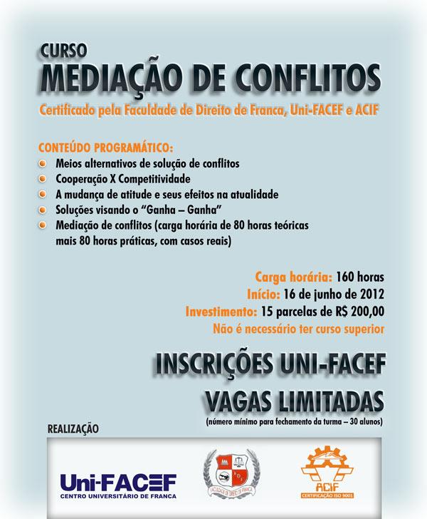 Convite - Curso de Mediação de Conflitos