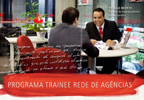 Santander abre vagas para trainee – vagas em Franca/SP