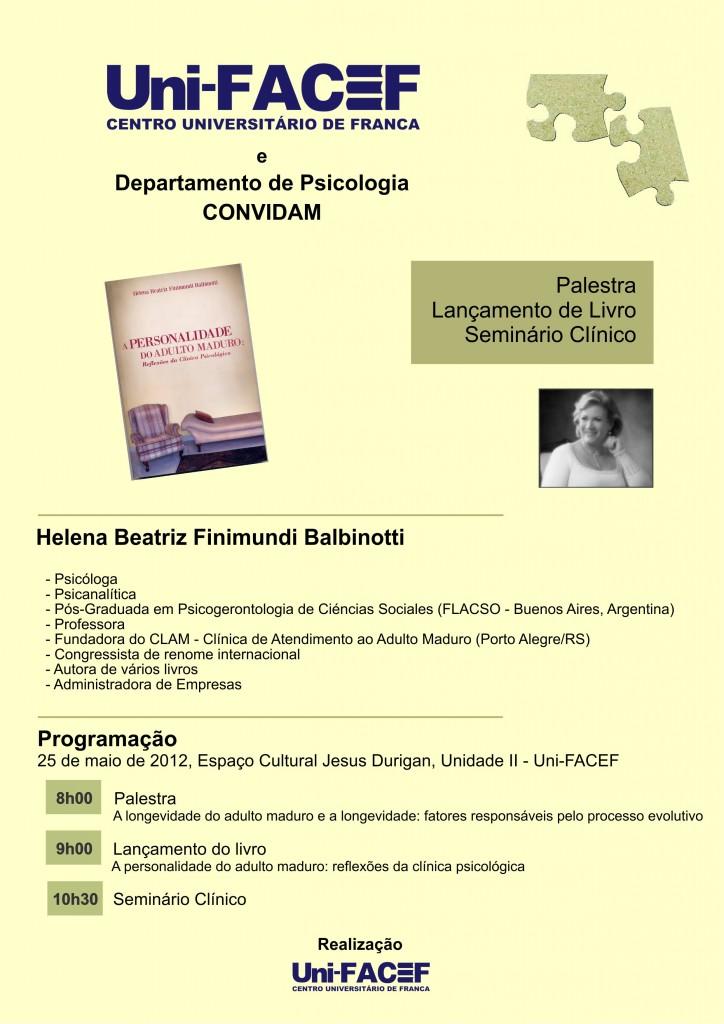 Uni-FACEF recebe pesquisadora na área de Personalidade do Adulto Maduro