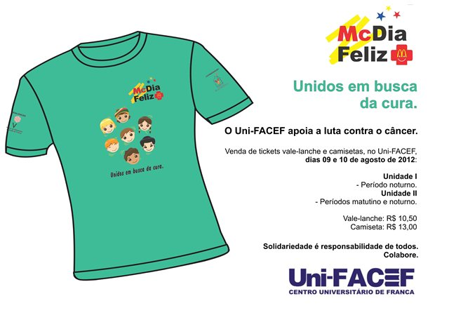 Uni-FACEF apoia Hospital do Câncer de Franca, no Mc Dia Feliz