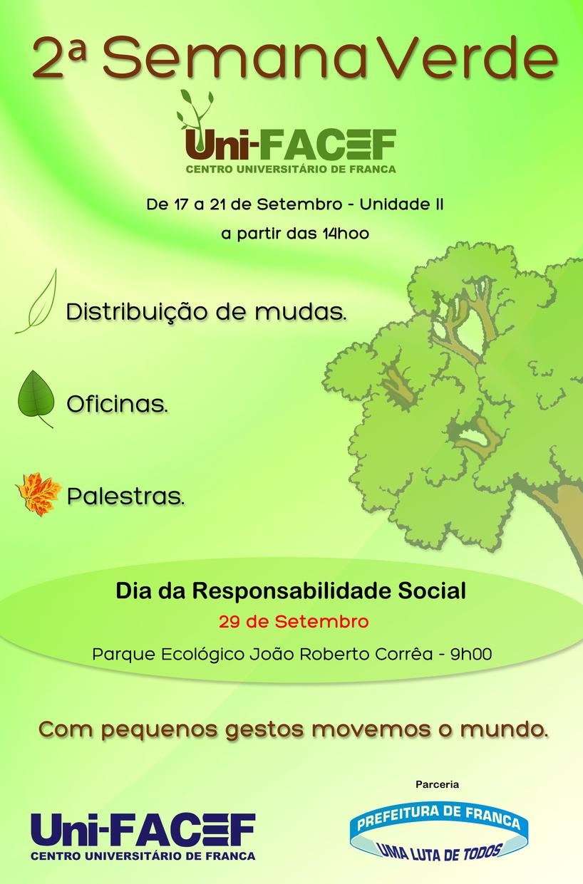 Convite - 2ª Semana Verde Uni-FACEF