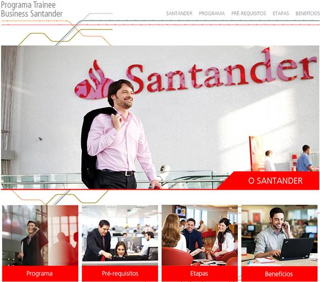 "Oportunidades para ""trainees"" no Banco Santander"