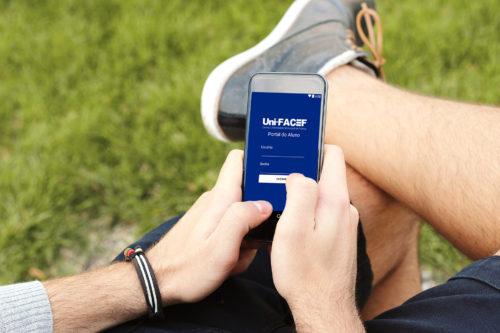 Chegou o Portal do Aluno – Uni-FACEF. Informações para dispositivos móveis, desenvolvido pelos estudantes de S.I.