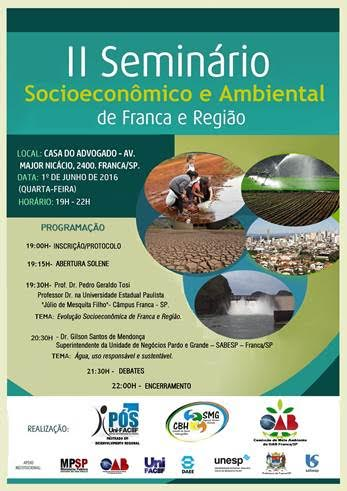 II SEMINÁRIO SOCIOECONÔMICO AMBIENTAL