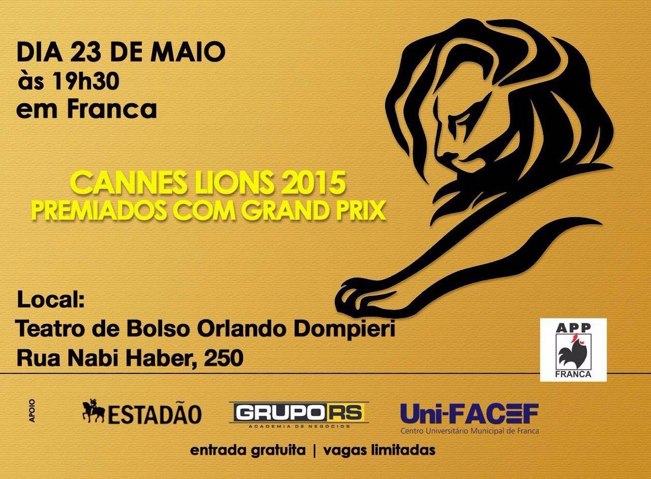 Curso de Publicidade e Propaganda apresenta peças premiadas em Cannes 2015