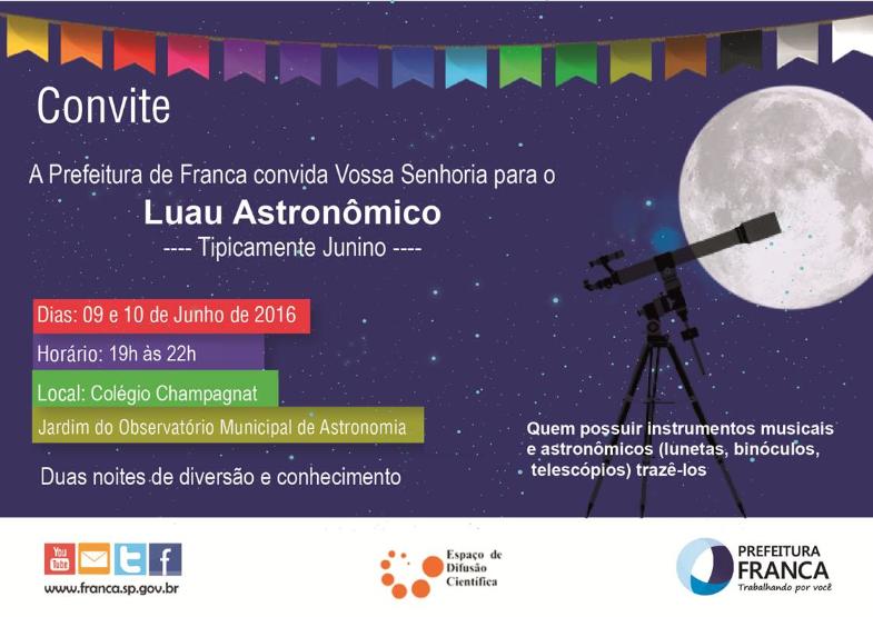 Luau Astronômico 2016