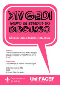 Curso de Letras do Uni-FACEF promove mais uma edição do GEDI