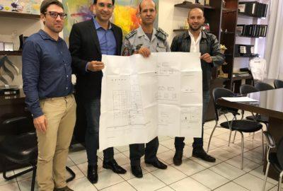 Estudantes de Engenharia Civil do Uni-FACEF desenvolveram projeto para unidade da Polícia Militar Ambiental de Franca