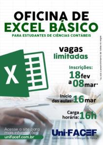 Curso de Excel para estudantes de Ciências Contábeis, do Uni-FACEF
