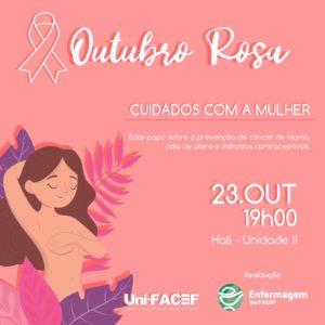 Tire suas dúvidas sobre câncer de mama, colo do útero e métodos contraceptivos no Uni-FACEF
