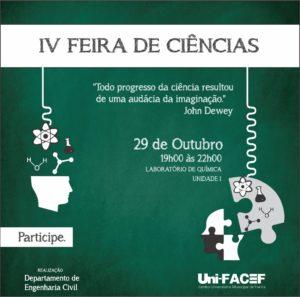 Feira de Ciências no Uni-FACEF – aprendizagem interativa