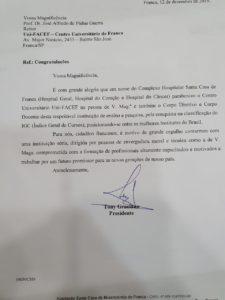 Complexo Hospitalar Santa Casa de Franca cumprimenta Uni-FACEF por IGC nota 4