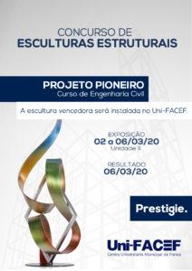 Imprensa divulga 2º Concurso de Esculturas Estruturais, do Uni-FACEF