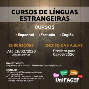 Curso de Idiomas no Uni-FACEF