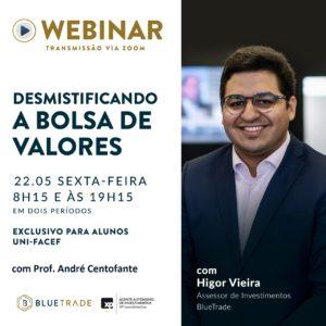 Live sobre a Bolsa de Valores para estudantes de Administração