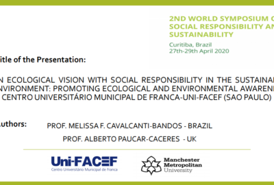 Docente do Uni-FACEF apresenta pesquisa em um dos maiores eventos sobre responsabilidade social