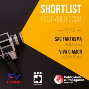 Shortlist do FestVídeo 2020 tem trabalhos de estudantes de Publicidade e Propaganda entre os finalistas