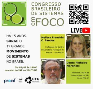 Live sobre o Congresso Brasileiro de Sistemas 2020