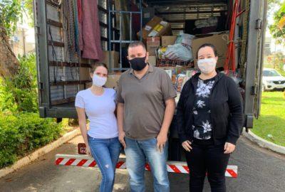 Alimentos arrecadados no Drive-Thru Solidário Uni-FACEF são entregues