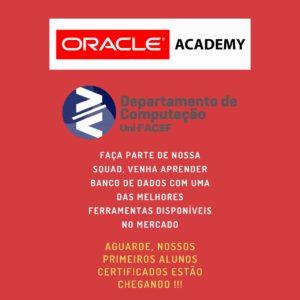 Certificação Oracle para estudantes do Departamento de Computação