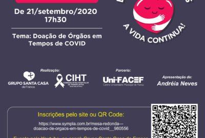 Uni-FACEF e Santa Casa de Franca promovem mesa-redonda sobre doação de órgãos