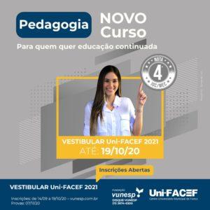 Pedagogia: novo curso no Uni-FACEF