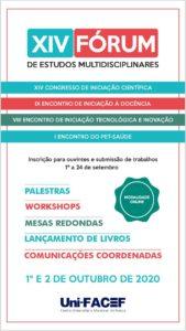 Abertas as inscrições para submissão de trabalhos ao XIV FÓRUM DE ESTUDOS MULTIDISCIPLINARES Uni-FACEF