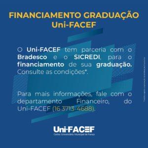 Financiamento para graduação no Uni-FACEF