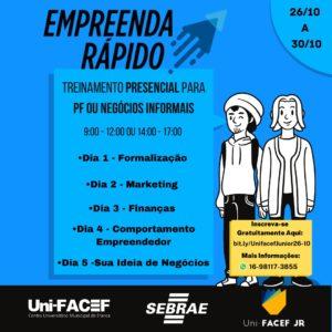 Empresa júnior do Uni-FACEF realiza curso de empreendedorismo em parceria com o Sebrae