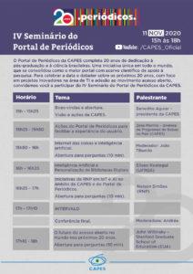 Participe do seminário promovido pelo Portal de Periódicos da Capes