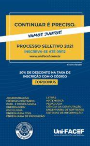 Uni-FACEF recebe inscrições para o Processo Seletivo 2021