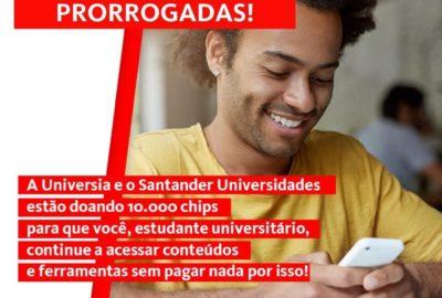 SIM card para estudante Uni-FACEF – inscrições prorrogadas