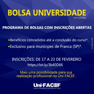 Bolsa Universidade abrirá inscrições na próxima semana