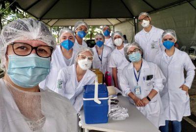 Participação dos estudantes de Enfermagem do Uni-FACEF na vacinação contra a COVID-19