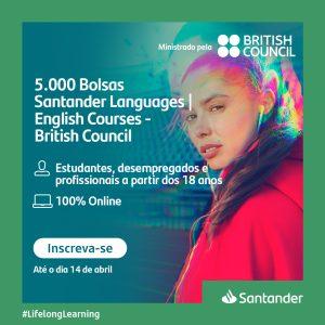 Parceria do Santander promove bolsas para curso de inglês