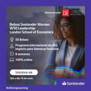 Santander e Uni-FACEF oferecem bolsas para programa WOMEN | W50Leadership