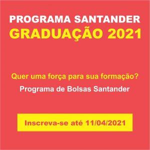 Programa de Bolsas Santander Graduação – últimos dias para inscrição