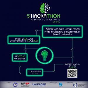 Uni-FACEF promove o V Hackathon Uni-FACEF para uma Franca mais sustentável