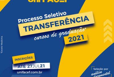 Processos seletivos de transferência externa para o Uni-FACEF