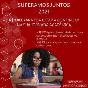 """Seleção Programa Santander de Bolsas """"Superamos Juntos"""" 2021 para estudantes Uni-FACEF"""