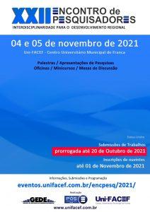 Prorrogado o prazo para submissão de trabalhos do II ENCONTRO DE PESQUISADORES Uni-FACEF